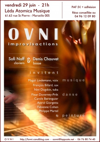 Flyer Improvisactions, collectif OVNI - LAM - 29.06.2007